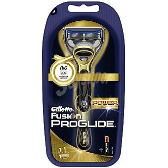 Gillette Maquinilla de afeitar power + pila incluida edición olimpiadas blister 1 unidad