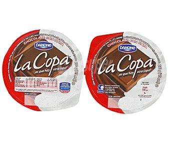 De Postre Danone Copa de Chocolate y Nata 2x115g