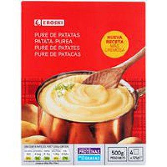 Eroski Puré de patatas Pack 4x125 g