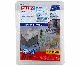Tesa Plástico Protector de Muebles y Suelos Extrafuerte, 20 Metros Cuadrados 1 Unidad