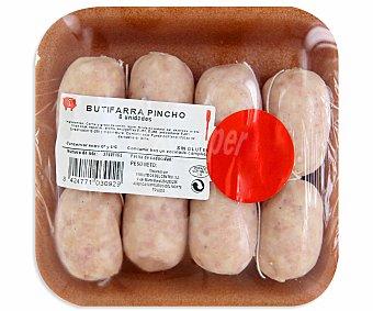 EMCESA Butifarra pincho sin gluten bandeja de 8 unidades 200 gramos