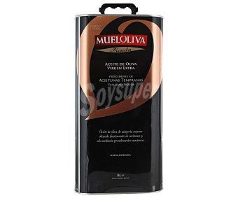 Mueloliva Aceite de oliva virgen extra procedente de aceitunas tempranas variedad picuda 5 litros