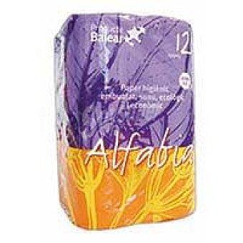 Alfabia Papel higiénico Paquete 12 rollos