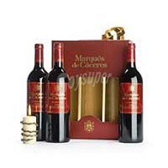 Marqués de Cáceres Vino Tinto Crianza Rioja Pack 3x75 cl