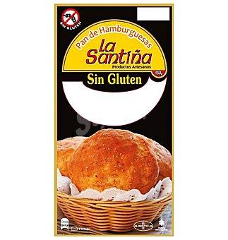 La Santiña Pan para hamburguesa sin gluten 2 unidades