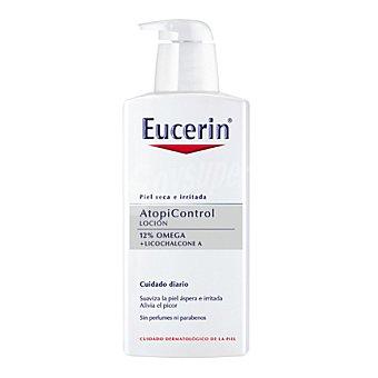 Eucerin Loción Atopicontrol. Hidrata, calma y reduce la sequedad. Alivia el picor y la tirantez 400 Mililitros