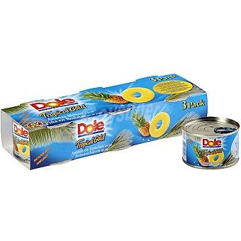 Dole Piña tropical gold pack 3 latas 139 g neto escurrido Pack 3 latas 139 g