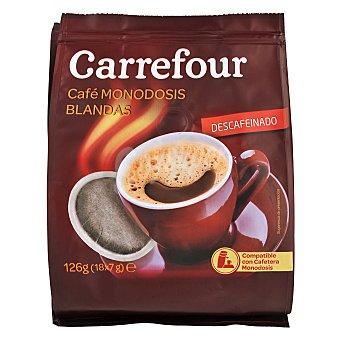 Carrefour Café descafeinado monodosis blandas Pack de 18x7 g
