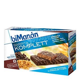Bimanan Barritas komplett de chocolate crujiente 8 ud