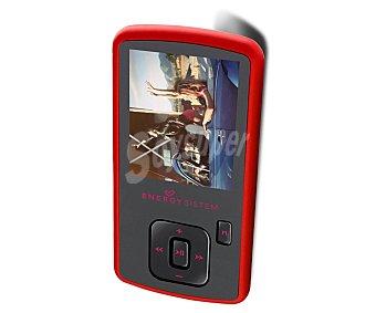 """ENERGY SISTEM 422890 Reproductor MP4 8GB, pantalla de 1.8"""", sintonizador de radio FM, lector de tarjetas microsd, color rojo"""