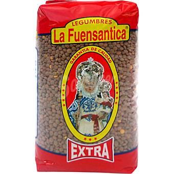 La fuensantica Lenteja pardina extra Paquete 1 kg