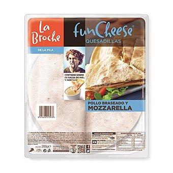 La Broche fun cheese quesadillas pollo braseado y mozzarella Bandeja 220 gr