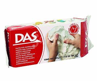 DAS Paquete de 500 gramos de pasta de modelar de color blanco, con sistema de cierre y apertura 1 unidad