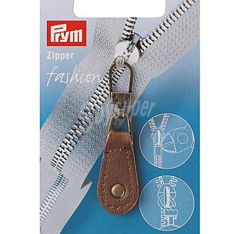 PRYM Tirador de cuero para cremallera en color marron