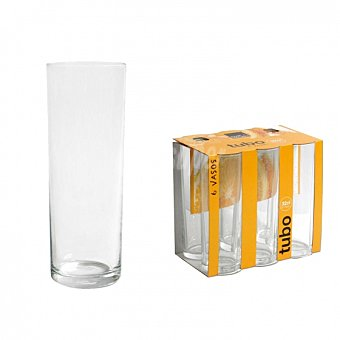Royal Set Vasos Tubo leerdarm - Transparente 32 cl 6 ud