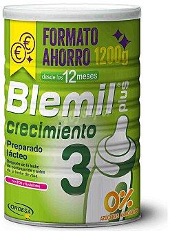 Blemil Plus 3 preparado lácteo de crecimiento en polvo a partir de 12 meses 0% azúcares añadidos formato ahorro Bote 1,2 kg