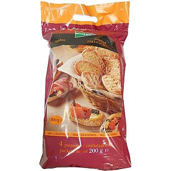 El Corte Inglés Barritas de pan tostadas bolsa 800 g 4 paquetes x 200 g
