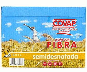 Covap Leche Semidesnadata con Fibra 6x1L
