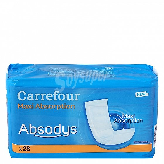 Carrefour Compresas Adulto Absodys 28 Ud 28 Ud