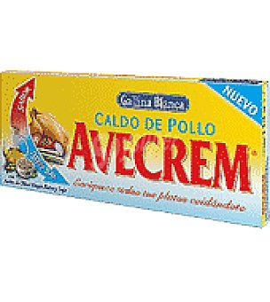 Gallina Blanca Caldo de pollo Avecrem bajo en sal Caja de 12 pastillas