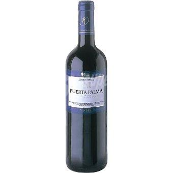 PUERTO PALMA Vino tinto media crianza de Extremadura botella 75 cl Botella 75 cl