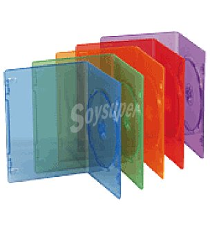 Tnb Pack 10 fundas dvd doble color Unidad
