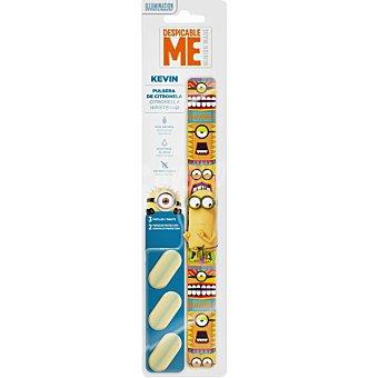 MUSSVITAL Minions Kevin pulsera de citronella incluye de recambio 1 unidad 3 pastillas