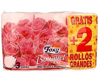 Foxy Papel higiénico 3 capas rosa supersoft 4+2 rolllos