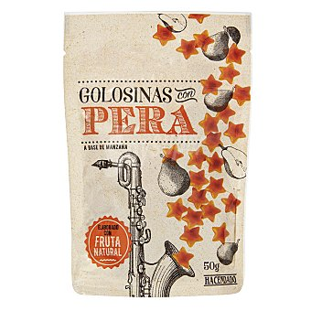 Hacendado Golosinas con pera (con fruta natural) Paquete 50 g