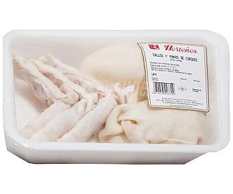 LOS NORTEÑOS Bandeja con callos y manitas limpias de cordero, envasados en atmósfera protectora 800 gramos aproximados