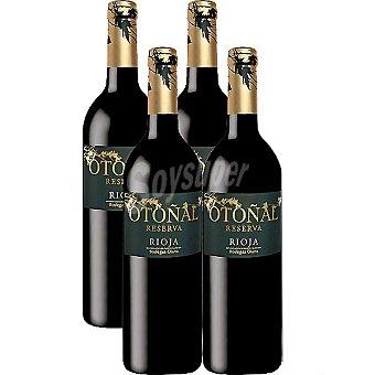 OTOÑAL Vino tinto reserva D.O. Rioja caja  4 botellas 75 cl