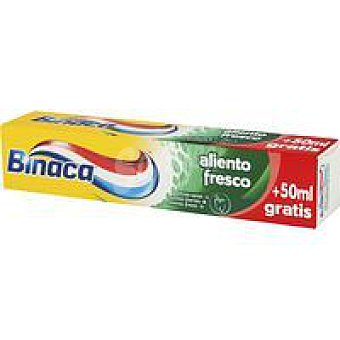 Binaca Dentífrico aliento fresco Tubo 75+50 ml