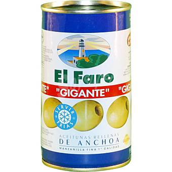 El Faro Aceitunas gigantes rellenas de anchoa Lata 150 g neto escurrido