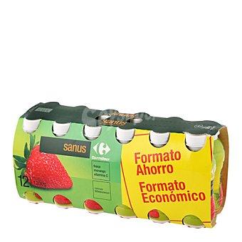 Carrefour Sanus fresa con vitamina C Pack de 12 ud
