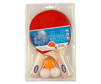 CUP´S Set de ping pong, con 2 raquetas y 3 pelotas incluidas 1 unidad