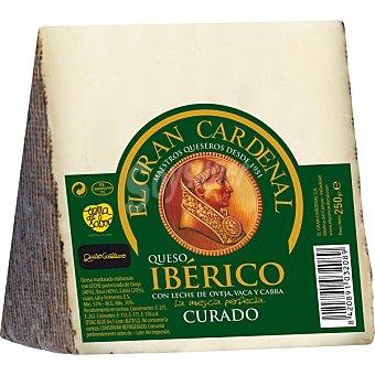 Gran Cardenal Queso ibérico curado de oveja, cabra y vaca Cuña 250 g