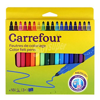 Carrefour 18 rotuladores punta mediana
