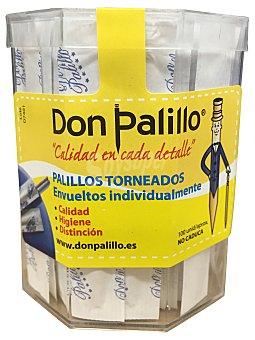 Don Palillo Palillos redondos envueltos Bote 100 u