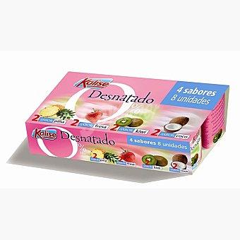 Kalise yogur desnatado sabores 2 fresa + 2 piña + 2 coco + 2 kiwi  pack 8 envases 125 g