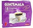 Café molido de tueste natural en monodosis de origen Guatemala (100% arábica) 18 unidades 125 gramos Auchan