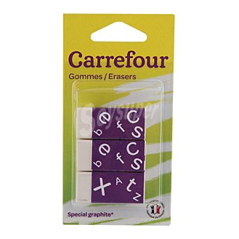 Carrefour Mini Gomas de Borrar 3 ud