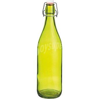 Coral Lory Botella con tapón de gaseosa en color verde 1 l