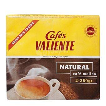 CAFÉS VALIENTE Café molido natural Pack de 2x250 g