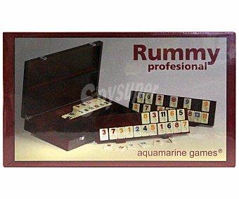 AQUAMARINE GAMES Rummy Profesional Caja Edición Limitada, de 2 a 4 Jugadores 1 Unidad