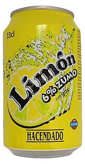 HACENDADO LIMON CON GAS LATA 330 cc