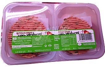 VARIOS Hamburguesa pollo/cerdo/verdura burger meat fresco Bandeja 4 u - 360 g