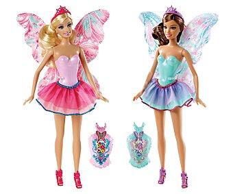 Barbie Muñeca Combi Hadas, con alas intercambiables cubiertas de lentejulas 1 unidad