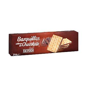 Hacendado Barquillo cuadrado relleno chocolate Paquete 210 g
