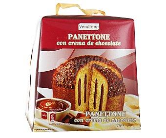 Vendome Panettone con crema de chocolate yrecubierto de cacao 750 gramos