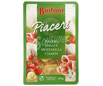 Buitoni Ravioli fresco relleno de tomate mozarella y jamón  250 g